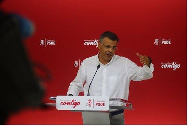 El portavoz del PSOE de Extremadura