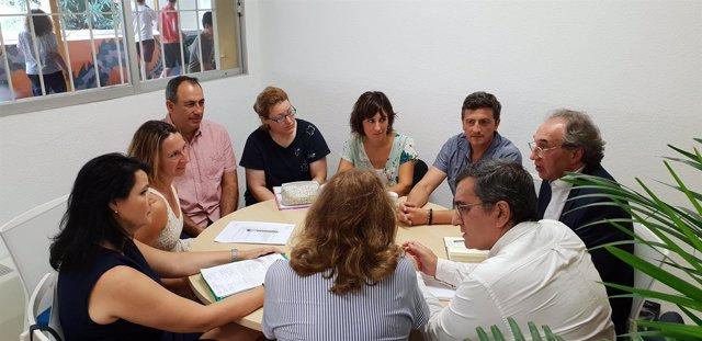 Reunión del conseller de Educación, Martí March, en Ibiza