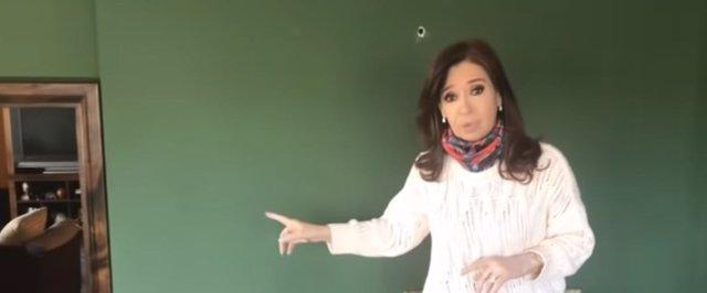 Captura de pantalla del vídeo de Cristina Kirchner