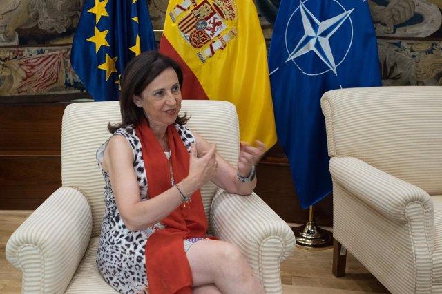 Entrevista de Europa Press a la ministra de Defensa, Margarita Robles