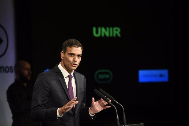 Intervención de Pedro Sánchez en el acto Avanzamos en Casa de América en Madrid