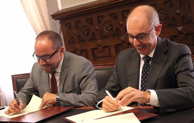 Luis Rey (izda) y Pedro Pisonero.