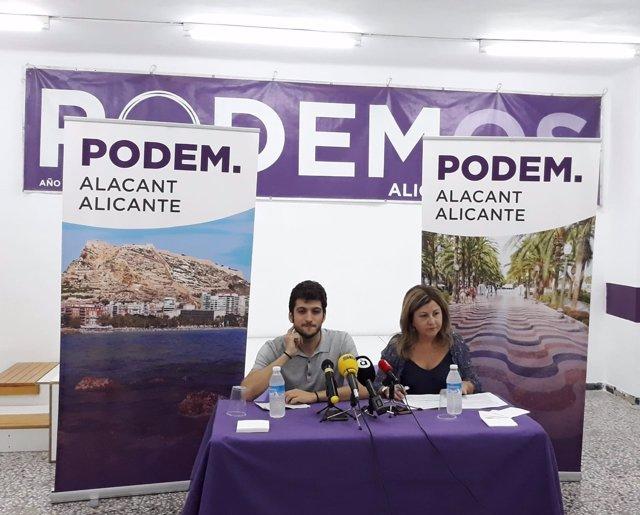 Antonio Estañ y Vicenta Jiménez, este lunes
