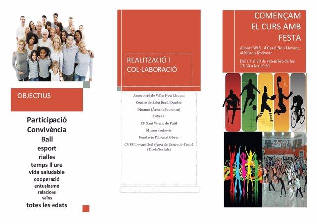 Actividades en Nou Llevant para fomentar la cohesión social