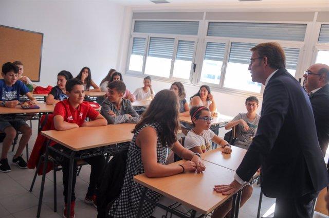 Inicio del curso escolar de secundaria en Galicia