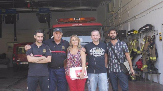 Visita al parque de bomberos de Pino Montano