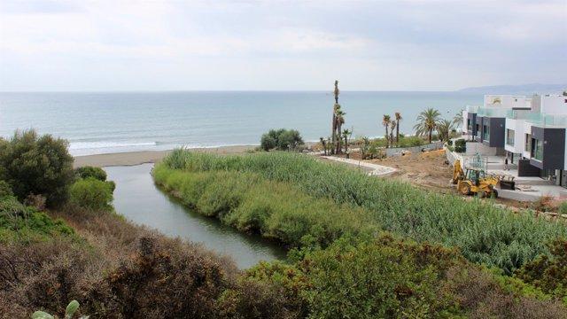 Obras del corredor litoral a su paso por Estepona