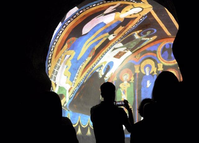 Mapping de los frescos de Santa Coloma, en Andorra