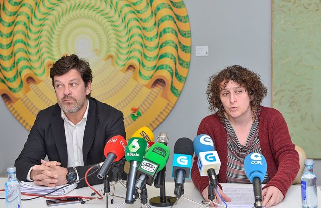 Goretti Sanmartín en la presentación del informe sobre Meirás
