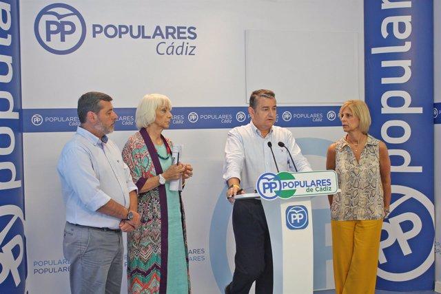 El presidente del PP de Cádiz, Antonio Sanz