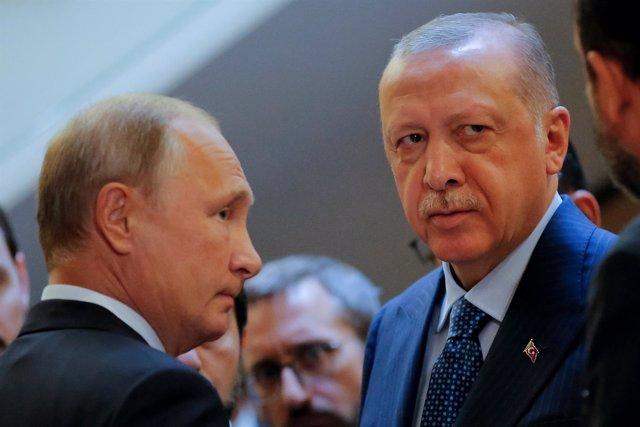 Vladimir Putin y Recep Tayyip Erdogan en Sochi