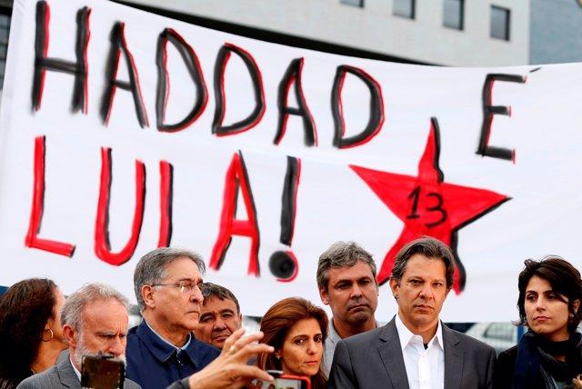 Fernando Haddad, candidato del PT a la Presidencia de Brasil
