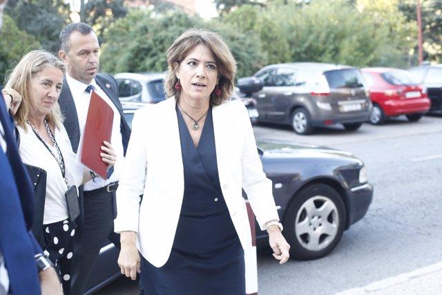 La ministra de Justícia vas agafar a la inauguració del Curs Selectiu de Formaci