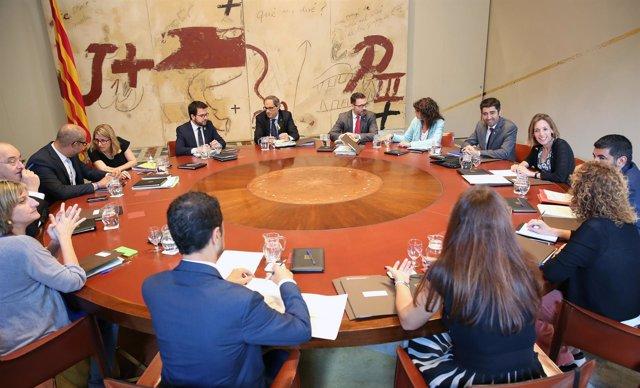 Reunión del Consell Executiu del Govern en una imagen de archivo.