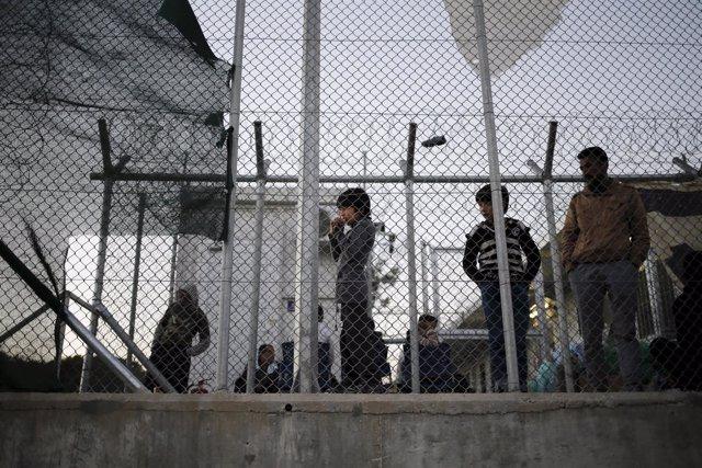 Campo de internamiento o 'hotspot' de Moria, en Lesbos