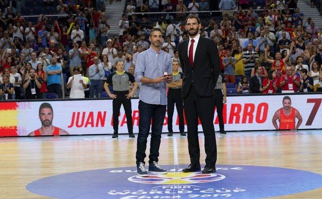 Juan Carlos Navarro Jorge Garbajosa FEB medalla oro brillantes homenaje