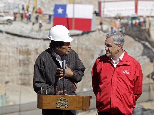 Morales agradece a Piñera el rescate del minero boliviano (Chile)