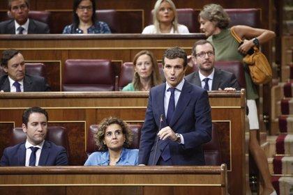 """Casado defiende la """"honestidad"""" de Aznar y tilda de """"despropósito"""" la comisión que investiga la 'caja b' del PP"""