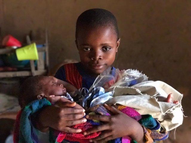 Niños en la región congoleña de Kasai