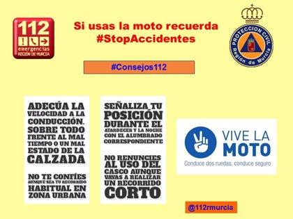 Herida una mujer con policontusiones y una fractura al chocar la moto que conducía con un coche en Cartagena