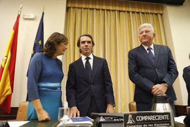 """Aznar proclama que no existeix """"cap caixa b"""" al PP i nega que cobrés o ordenés sobresous il·legals (Marta Fernández Jara - Europa Press)"""