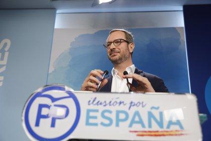 """Maroto reivindica que el PP fue el primero que propuso regular los aforamientos y reclama un """"debate sereno"""" sobre ello"""