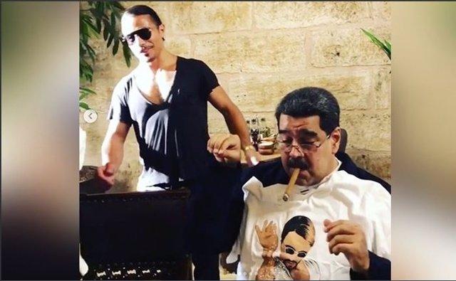 Nicolás Maduro comiendo en el restaurante más caro del mundo