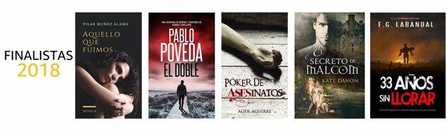 Finalistas de la 5 edición del concurso de autores indie de Amazon