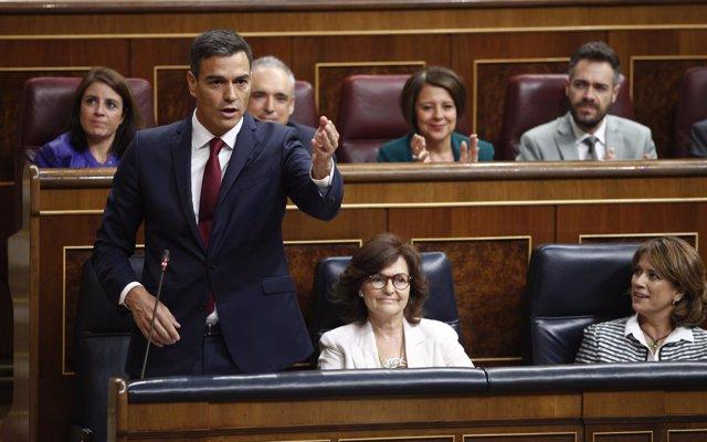 Podemos y ERC exigen que Pedro Sánchez explique en el Congreso por qué mantiene la venta de armas a Arabia Saudí