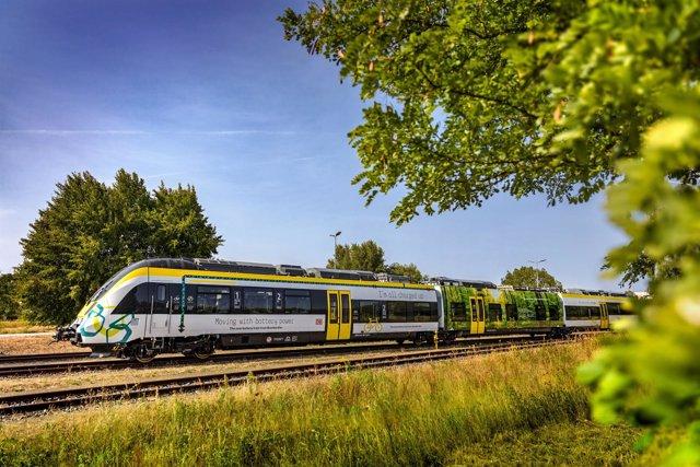 Tren de batería eléctrica de Bombardier.