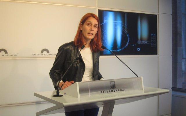 El grupo de los comuns nombra a Jèssica Albiach presidenta del grupo en el Parlament