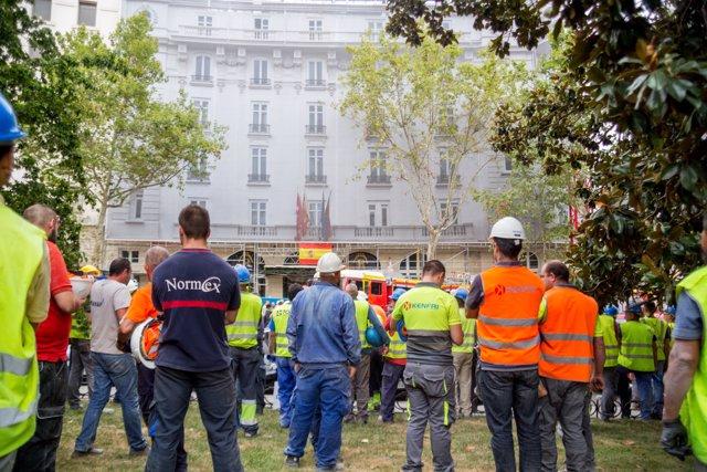 Se derrumba un andamio en las obras del hotel Ritz de Madrid