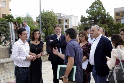 """Puig ofrece la colaboración de la Generalitat para restaurar el muro de Los Silos """"cuanto antes"""""""