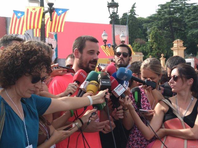 Declaraciones de Lluc Salellas en la manifestación de la Diada.