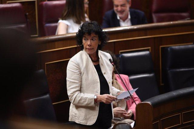 Isabel Celaá interviene en la sesión de control al Gobierno en el Congreso