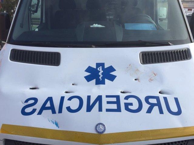 Ambulancia con agresión urgencias sanidad