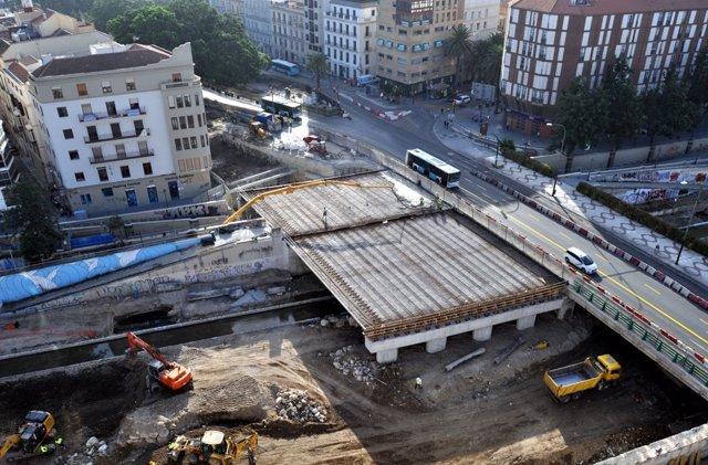 Obras del metro en puente de Tetuán