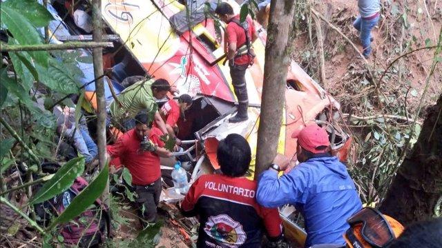 Accidente de tráfico entre Loja y Balsas, Ecuador