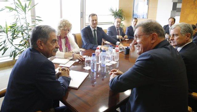 Reunión Gobierno de Cantabria y Solvay