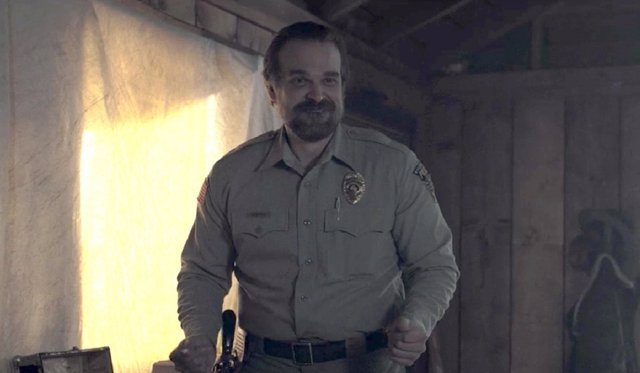 David Harbour en Stranger Things
