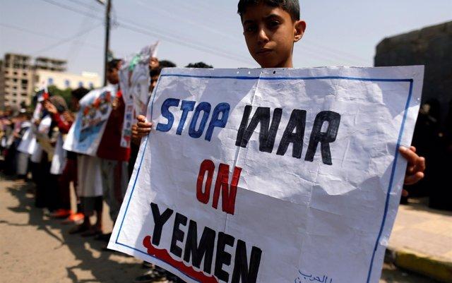 Más de cinco millones de niños, al borde de la hambruna en Yemen