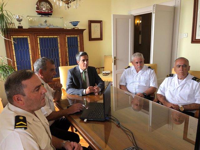 Visita oficial de Zuloaga a la Comandancia Naval