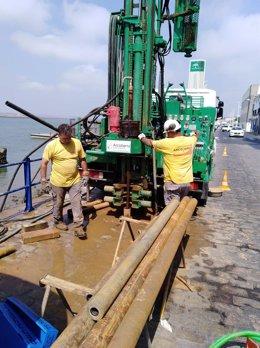 Obras en el puerto de Ayamonte.