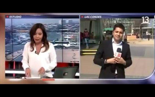 Captan un 'asesinato' en Chile durante una retransmisión en directo y el periodista ni se percata