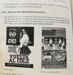 Denuncien un club de 'show girls' per la publicitat amb una noia vestida de col·legiala (DONES DE LLEIDA)