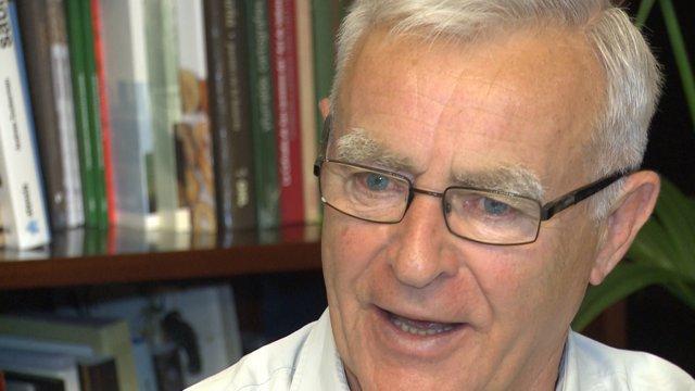 Joan Ribó durant l'entrevista amb Europa Press