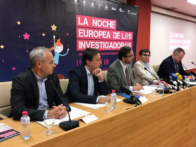 Presentación de la VIII Noche Europea de los Investigadores.