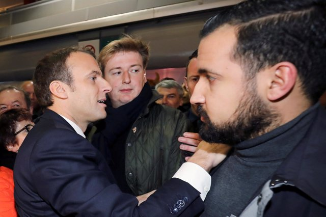Emmanuel Macron y el guardaespaldas Alexandre Benalla