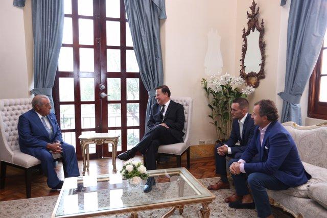 El presidente de Globalia se reúne con el presidente de Panamá