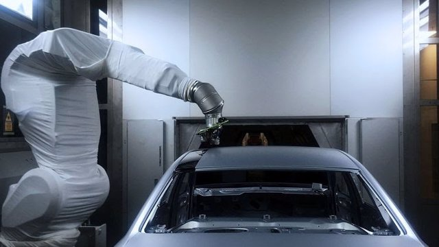 Robot de pintura de Audi